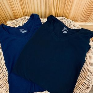 2 Just My Size black navy long sleeve cotton tees
